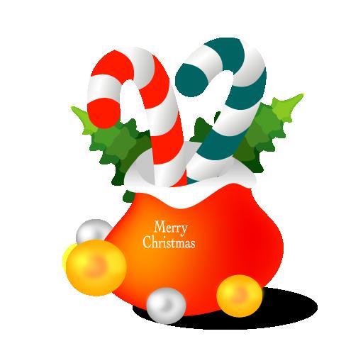 Free Christmas Gift Bag Clip Art