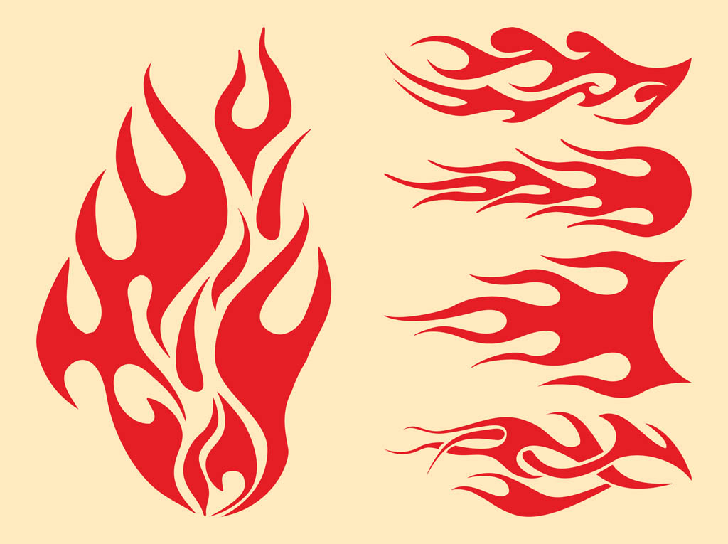 19 Flame Vector Graphics Images