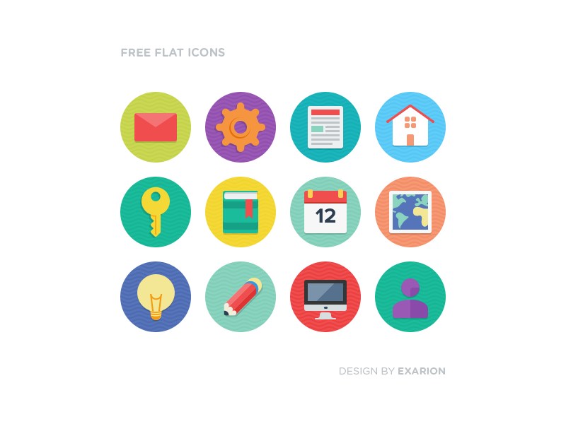 16 Free Flat Icons PSD Images