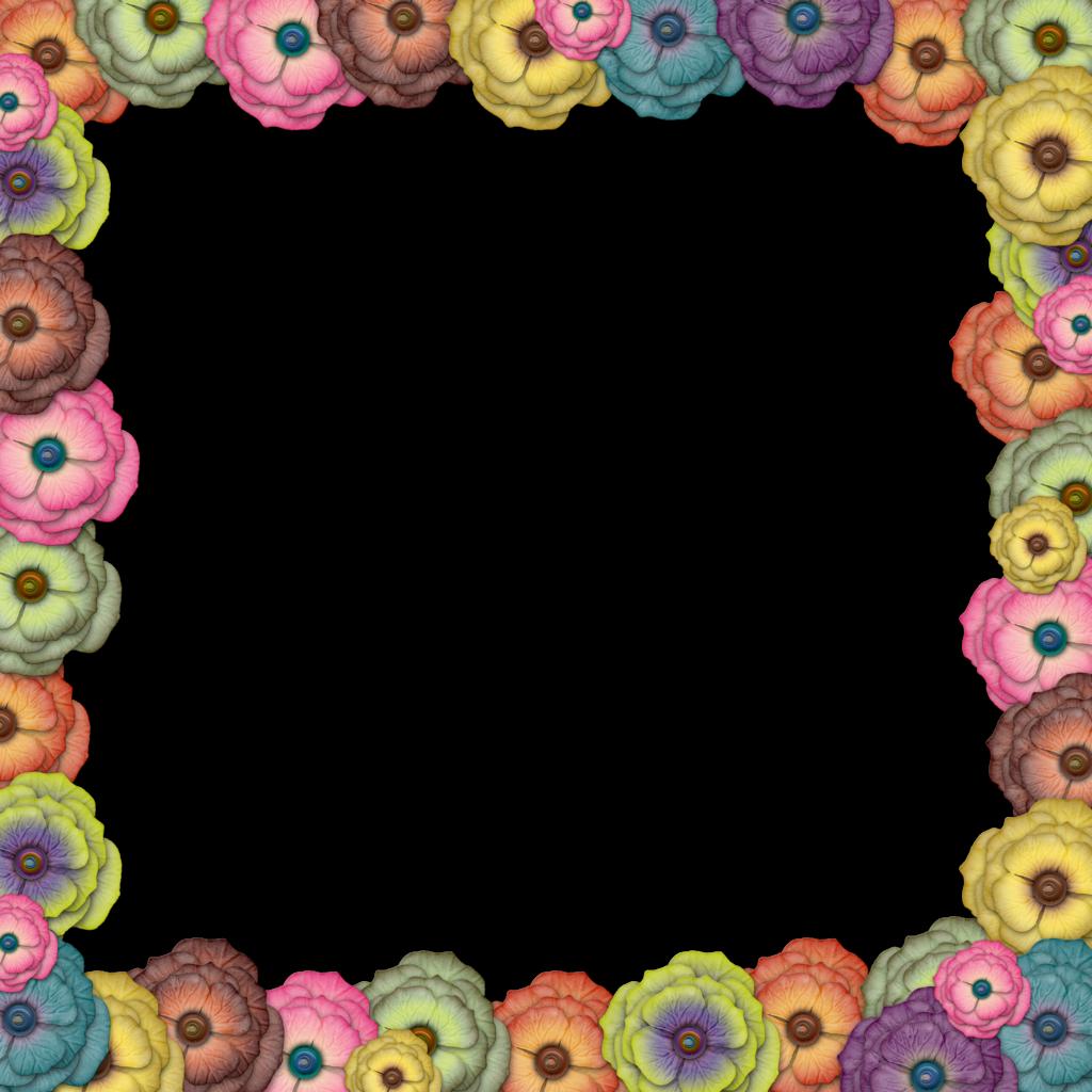 Free Flower Border Design