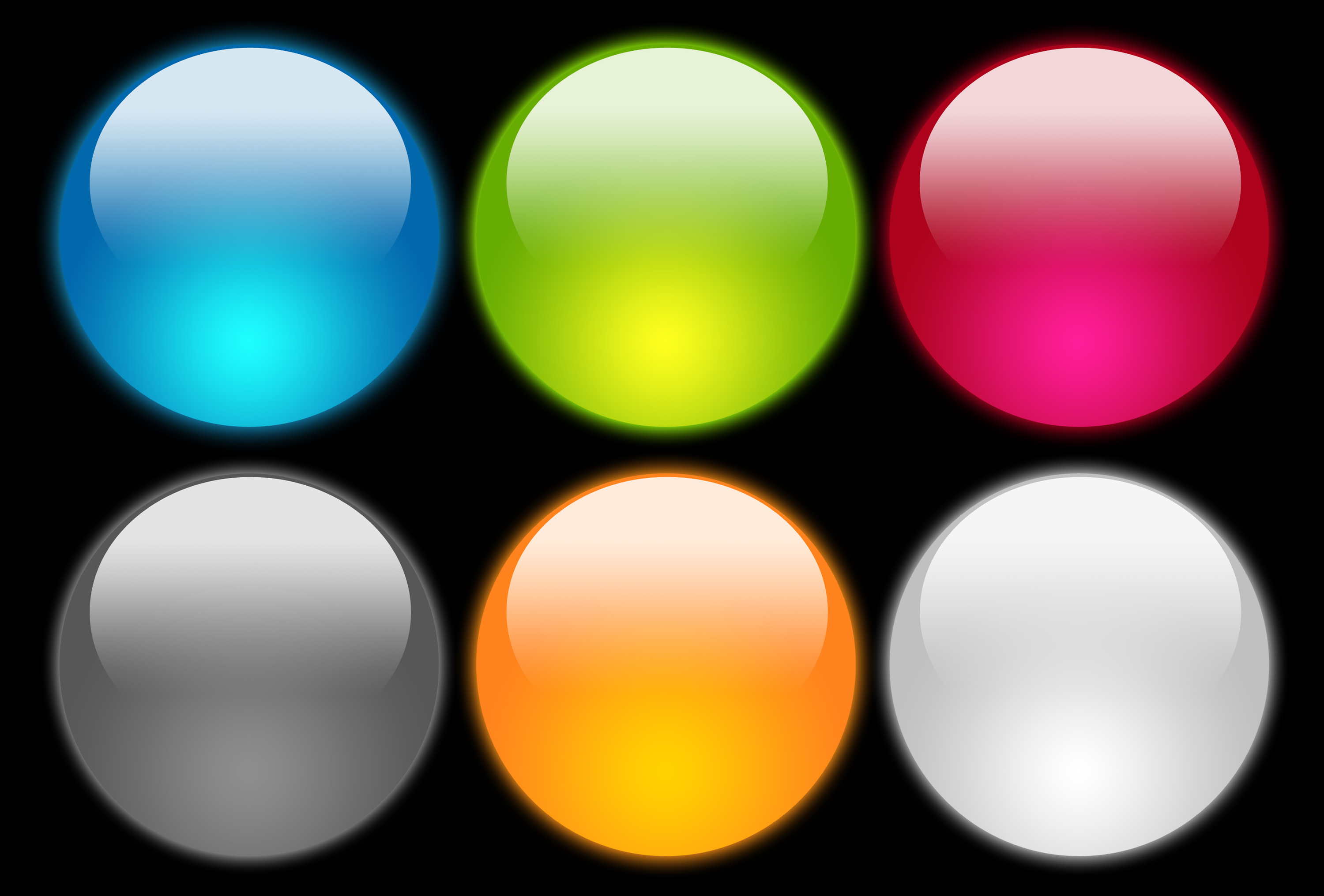 14 Photos of Glossy Buttons PSD