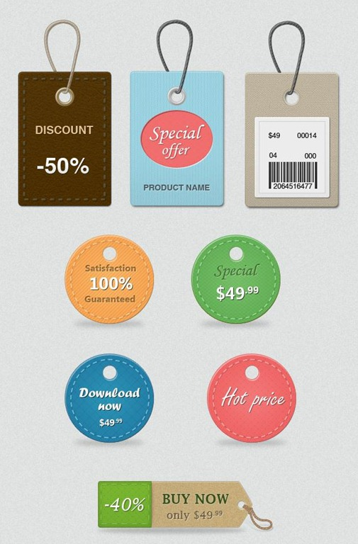 9 Free Sale Price Tags PSD Images