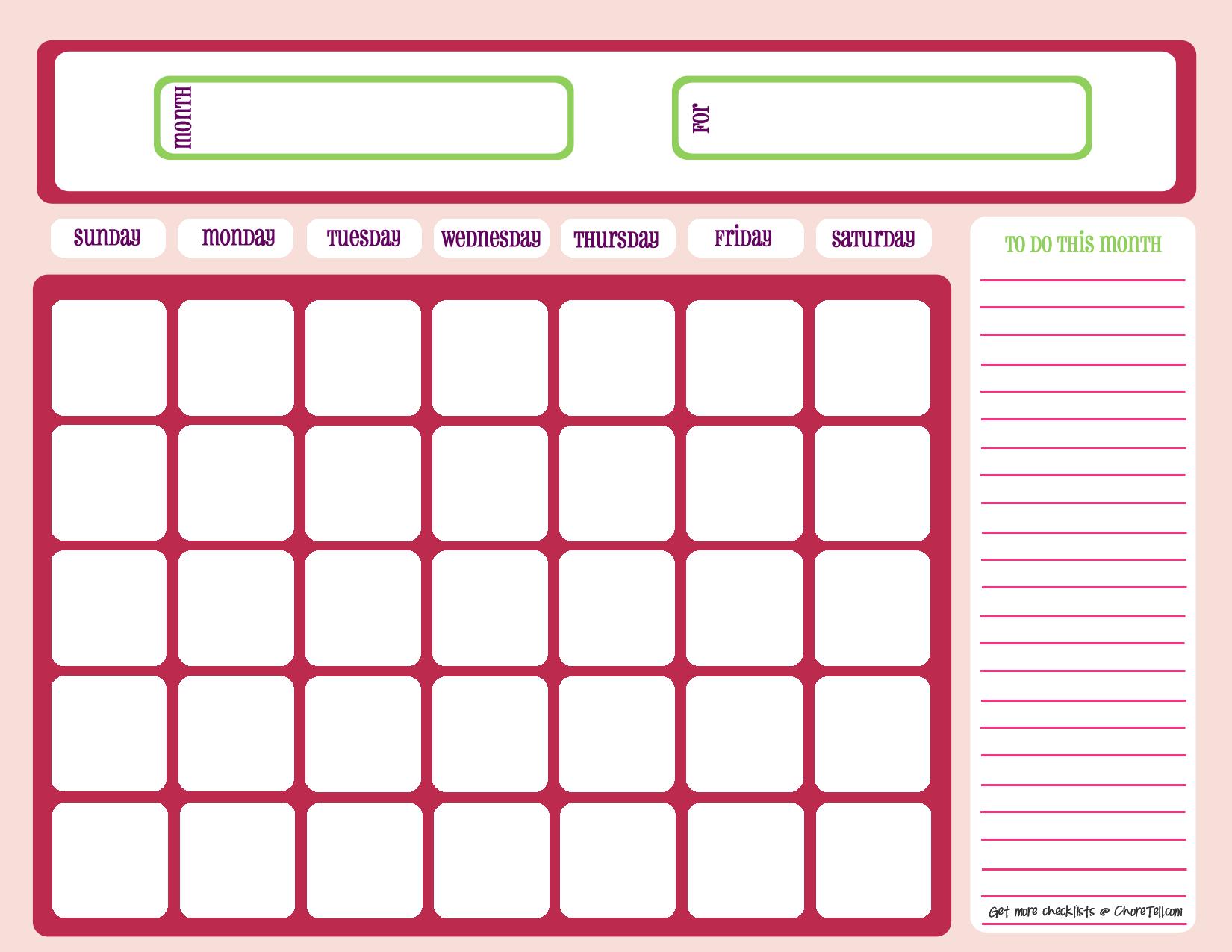 Cute September Calendar 2014 Printable