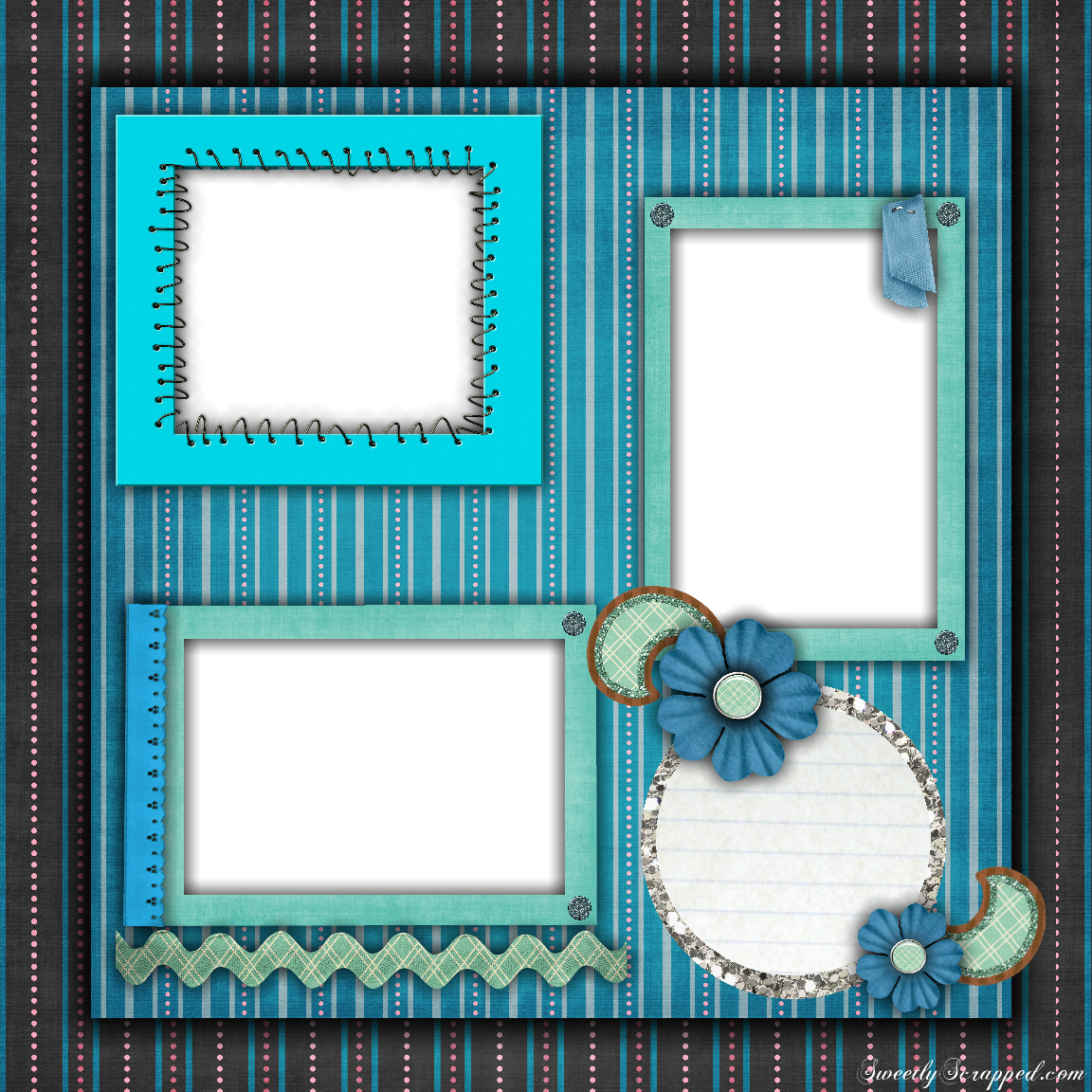 Free Printable Scrapbook Layouts