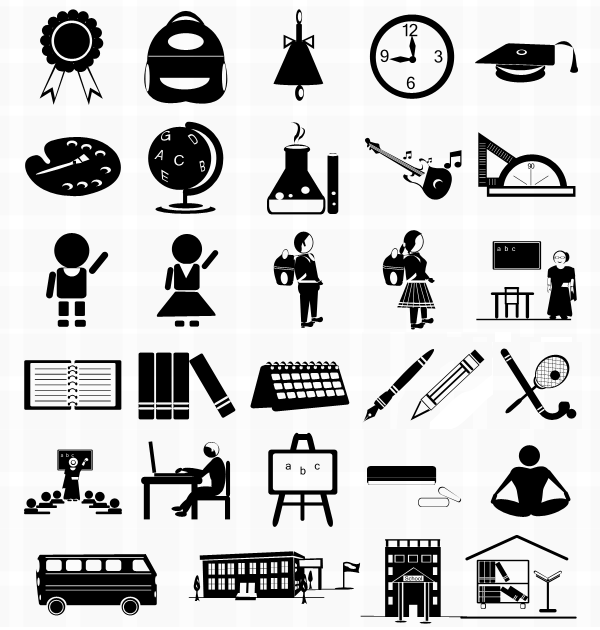 11 Free Vector Icons School Images