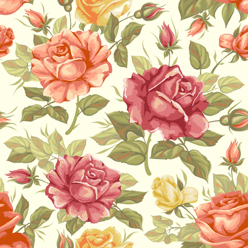 Free Seamless Vector Pattern Flowers