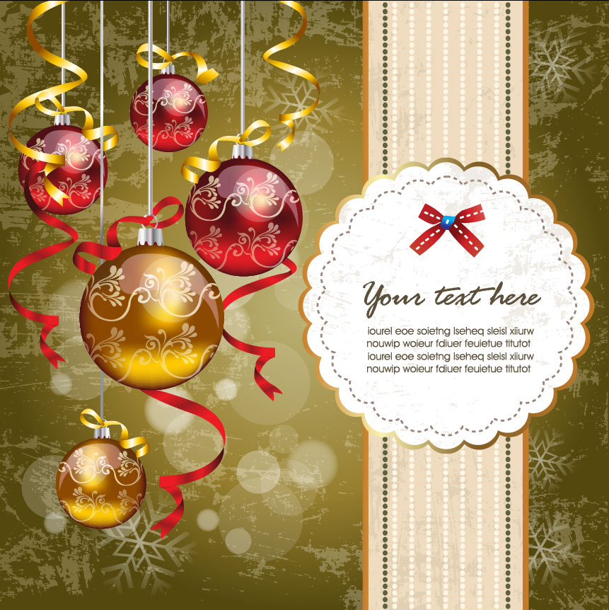 Free Vector Christmas Holiday Cards