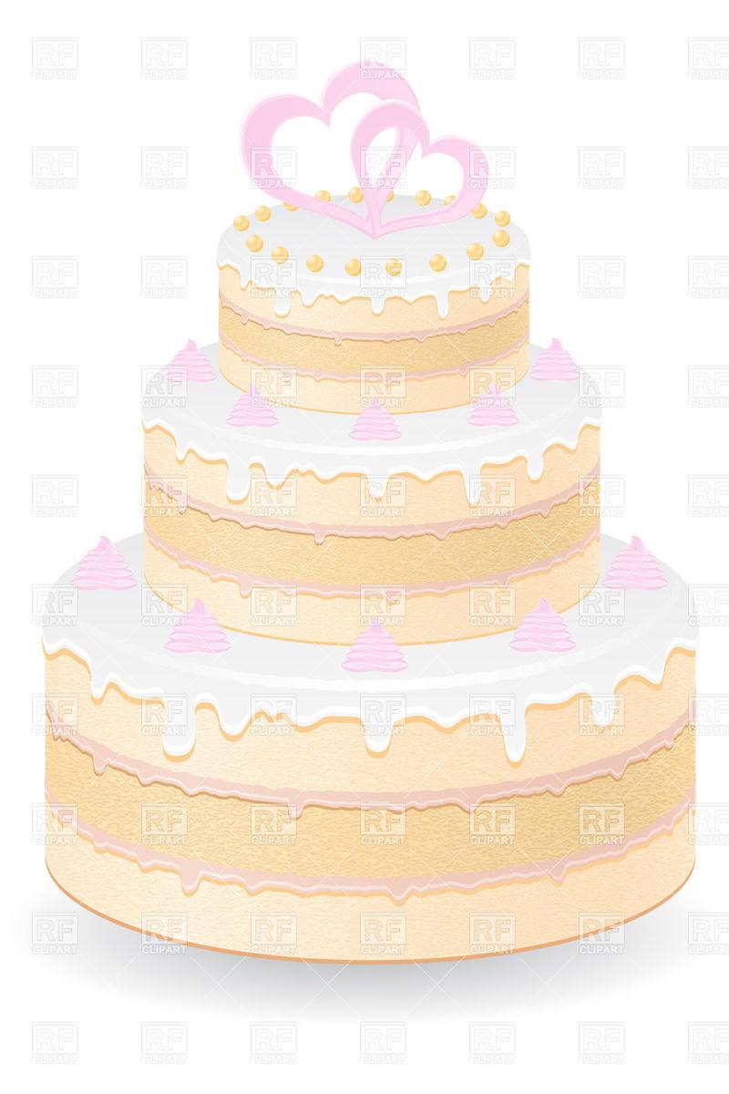Free Vector Clip Art Wedding Cake