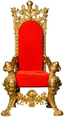 9 King Throne Chairs PSD Images
