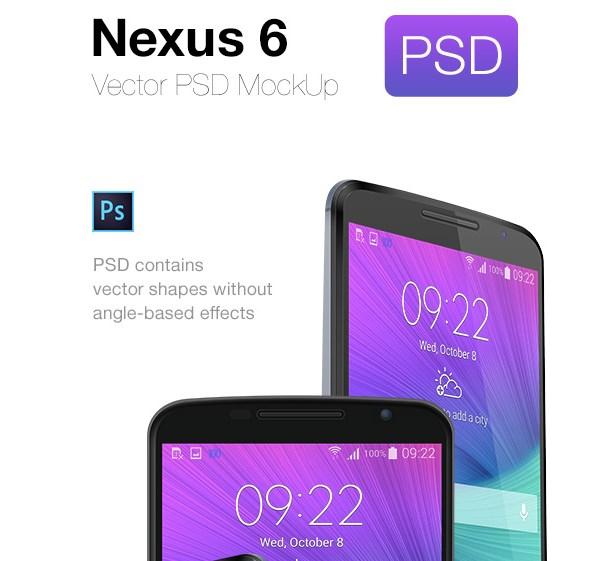 Google Nexus 6 PSD