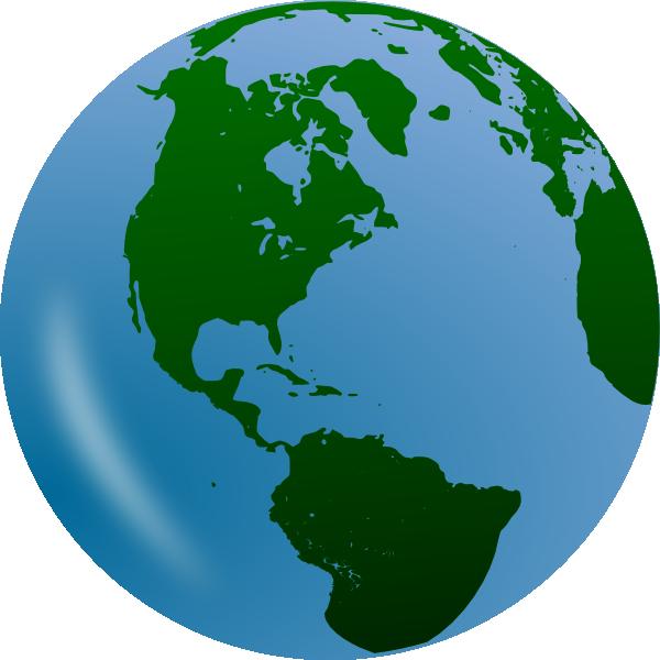 Green World Globe Clip Art