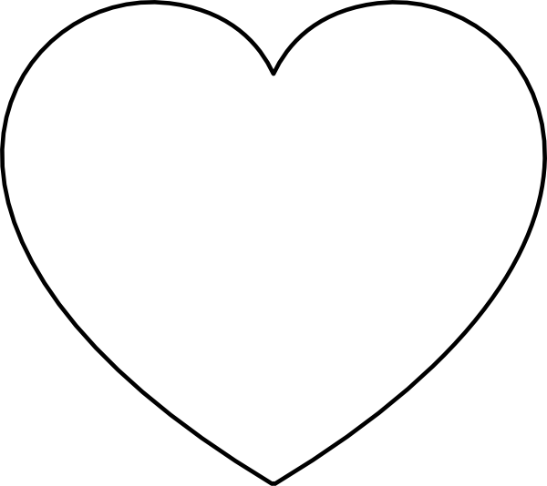Heart Shape Outline Clip Art