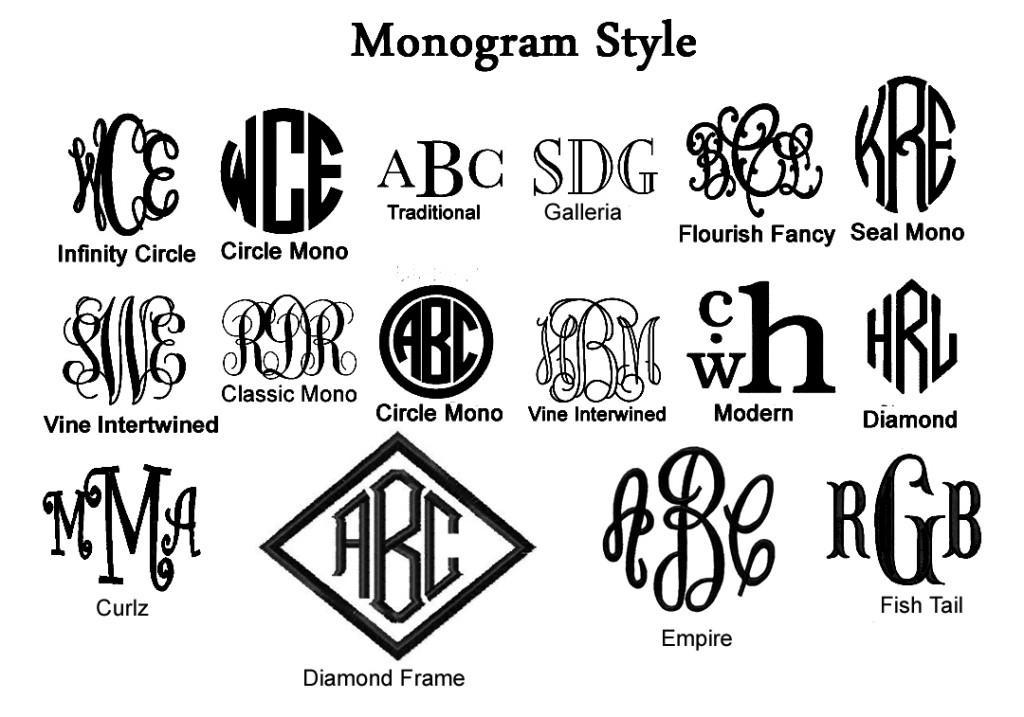 9 monogram fonts initials images