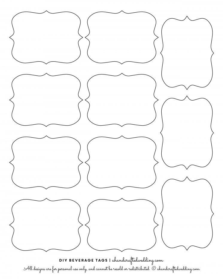 free printable gift tag templates for word - 14 label shapes template images label shapes clip art