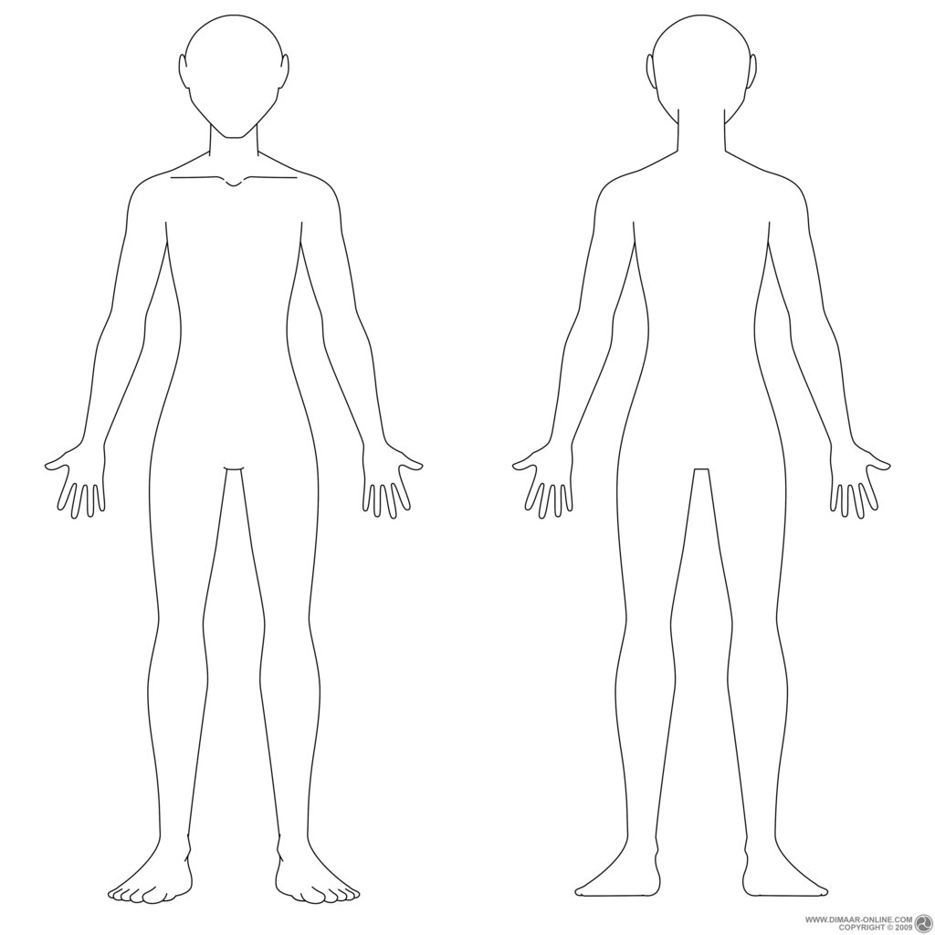 Male Costume Design Body Templates