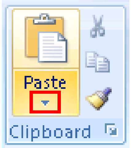 Microsoft Word Copy Paste Icons