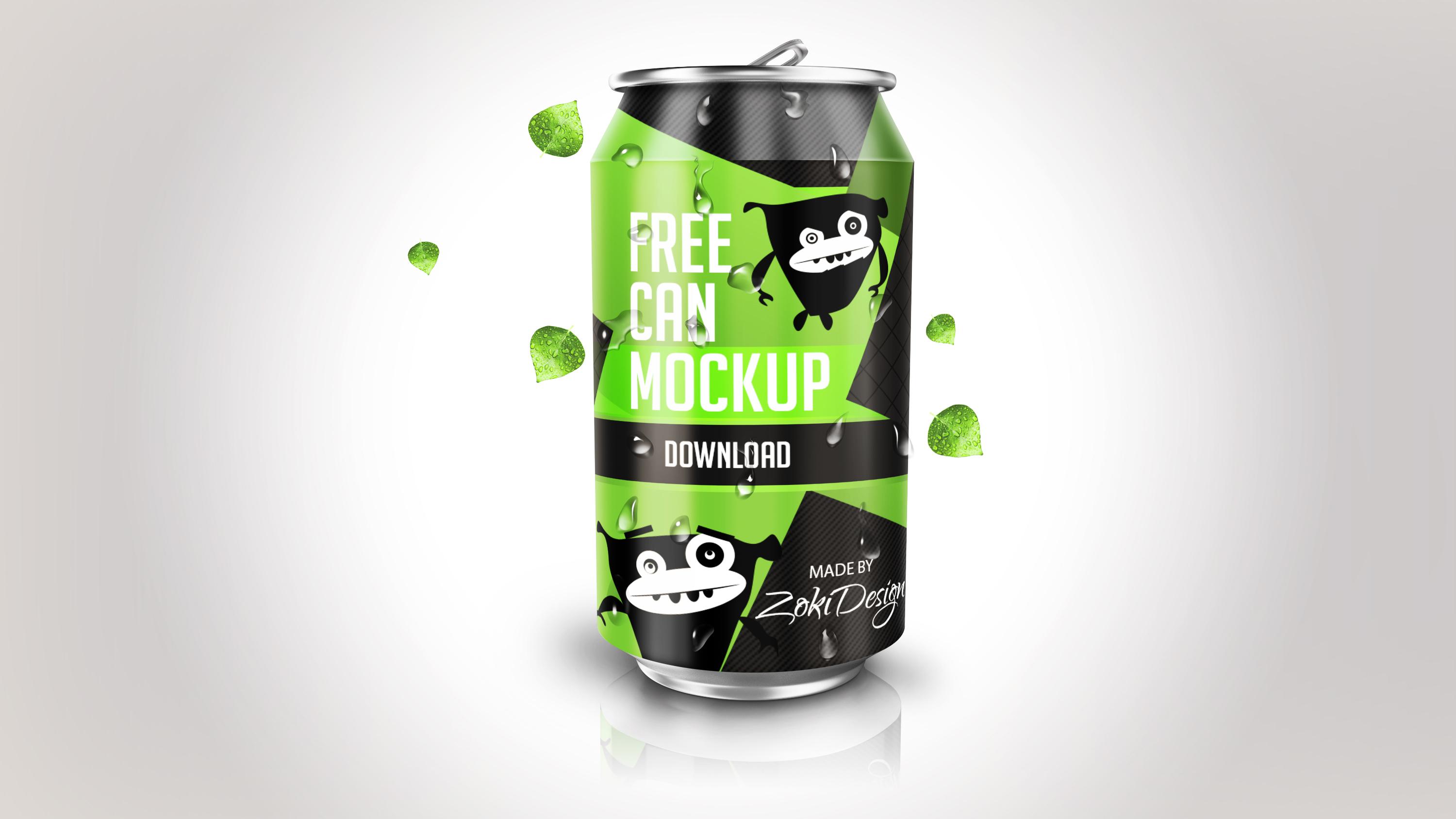 Mock Up Soda Can