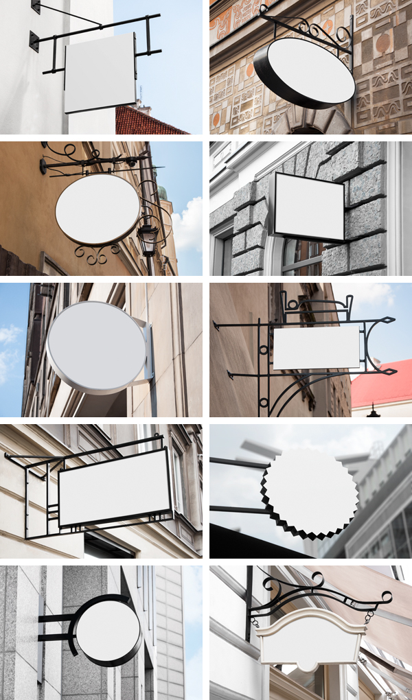 Mockup Restaurant Signs