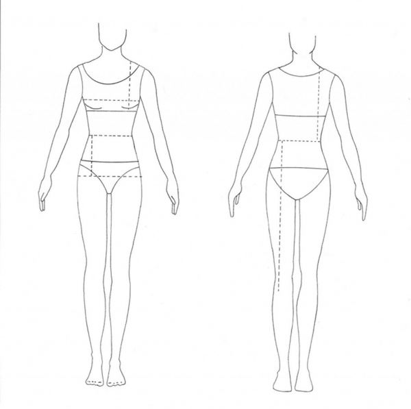 Model Sketches for Fashion Design Templates