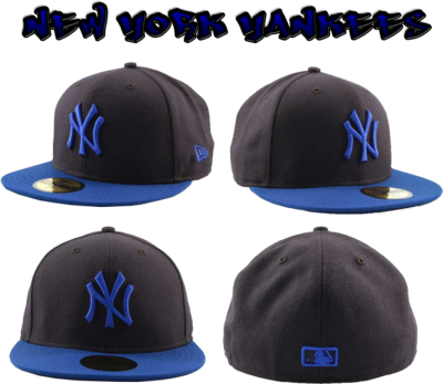 Navy Blue Fitted Caps