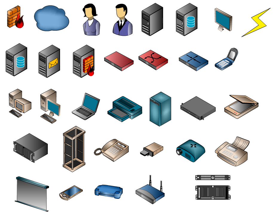 12 Network Design Icons Images