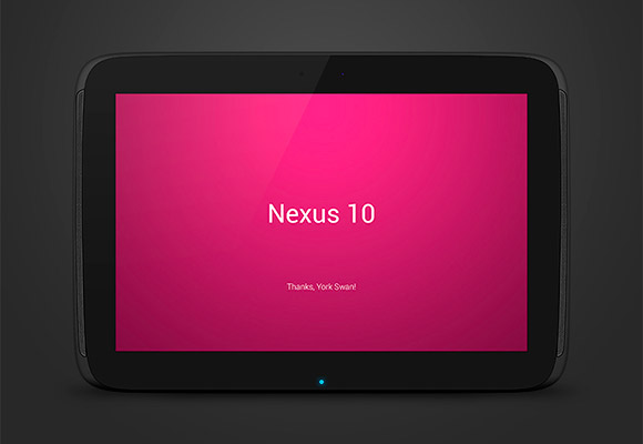 Nexus 10 PSD Mockup