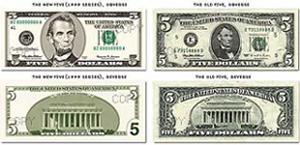 Old 5 Dollar Bill