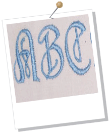 Old English Font Outline Embroidery