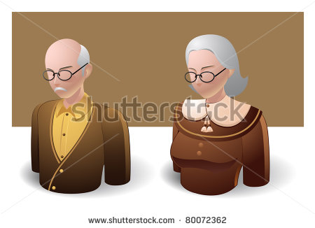 Old Man Women Icon Images