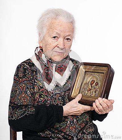 Old White Woman Icon