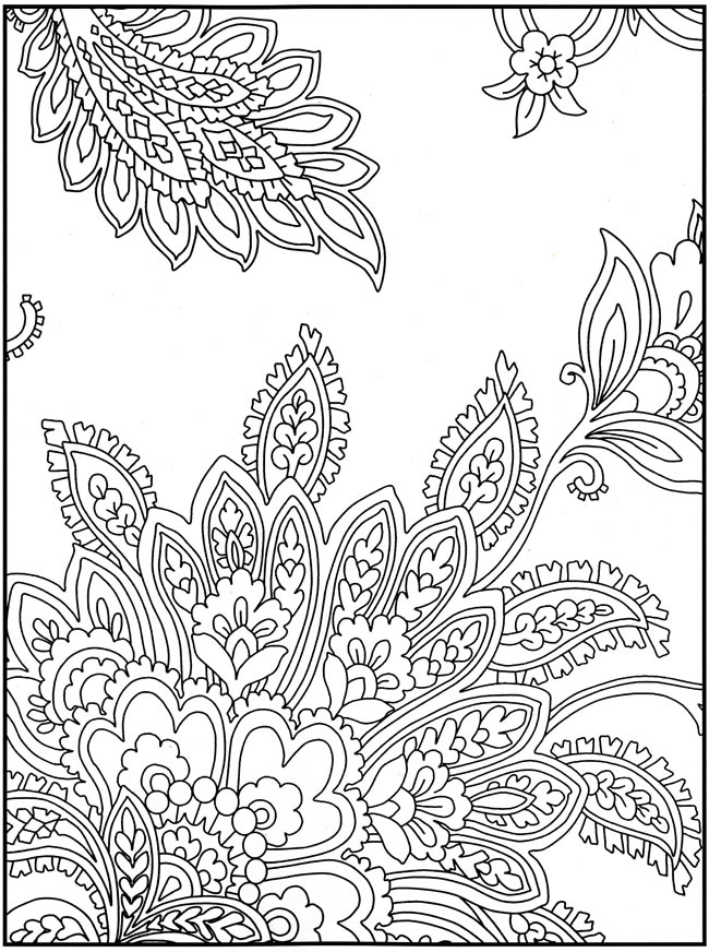 Paisley Pattern Coloring Page for Adults