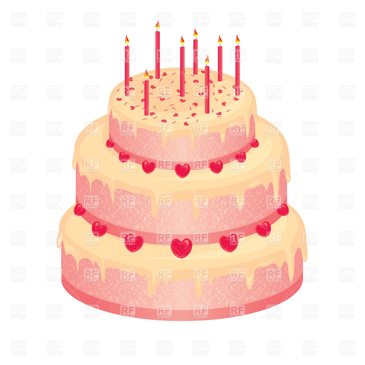 Pink Birthday Cake Clip Art Free