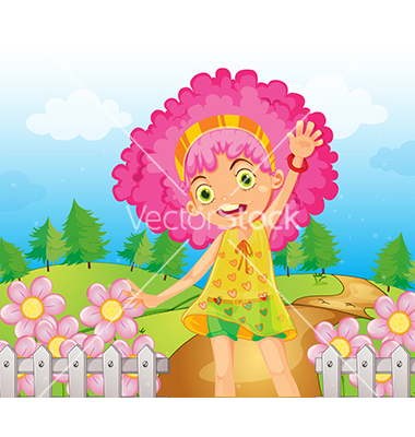 Pink Cartoon Flowers