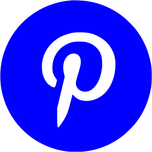 9 Blue Pinterest Icon Images