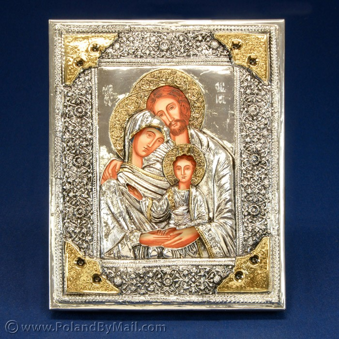 8 Silver Plated Polish Religious Icons Images