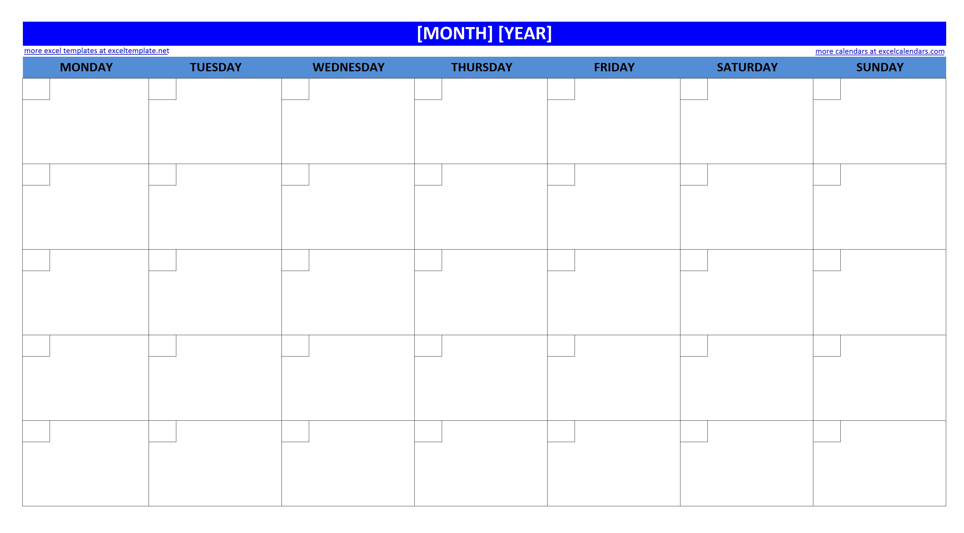 16 blank month calendar template images blank monthly for Fillable calendar template 2014
