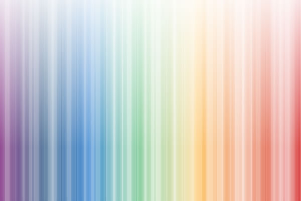 Rainbow White Background with Design