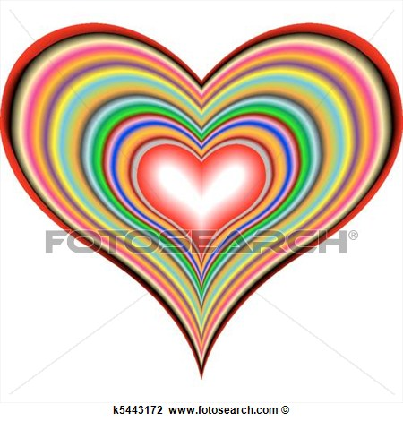 Retro Heart Clip Art