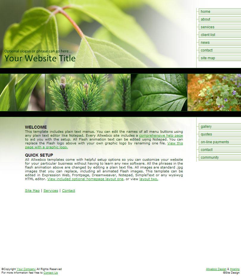 Sample Business Website Templates