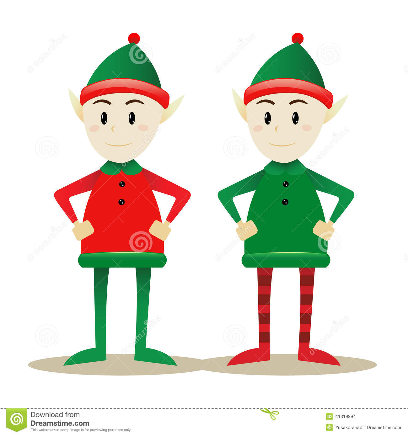 12 Vector Santa's Elf Images
