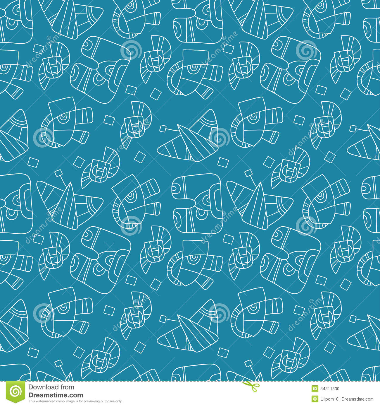 Seamless Backgrounds for Website Blue Patterns