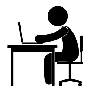 12 Desk Worker Icon Images