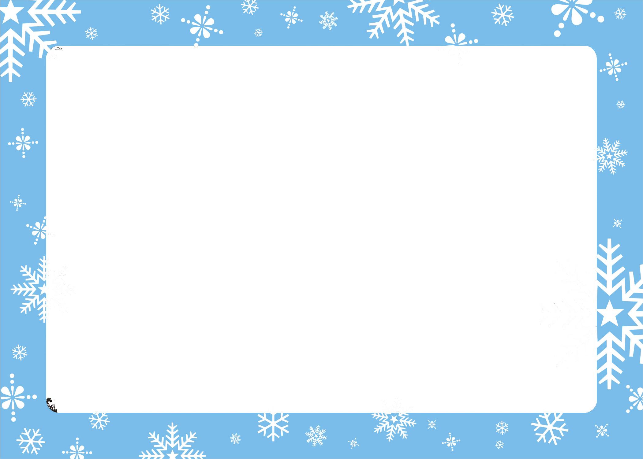 Simple Christmas Card Border