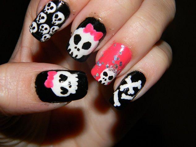 Skull Nail Art Design