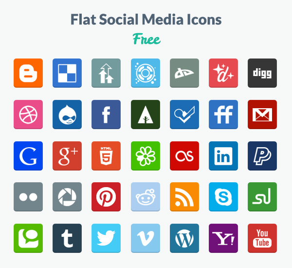 15 Social Media Icons Free Images