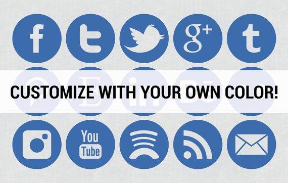 Social Media Instagram Facebook Twitter YouTube Icons