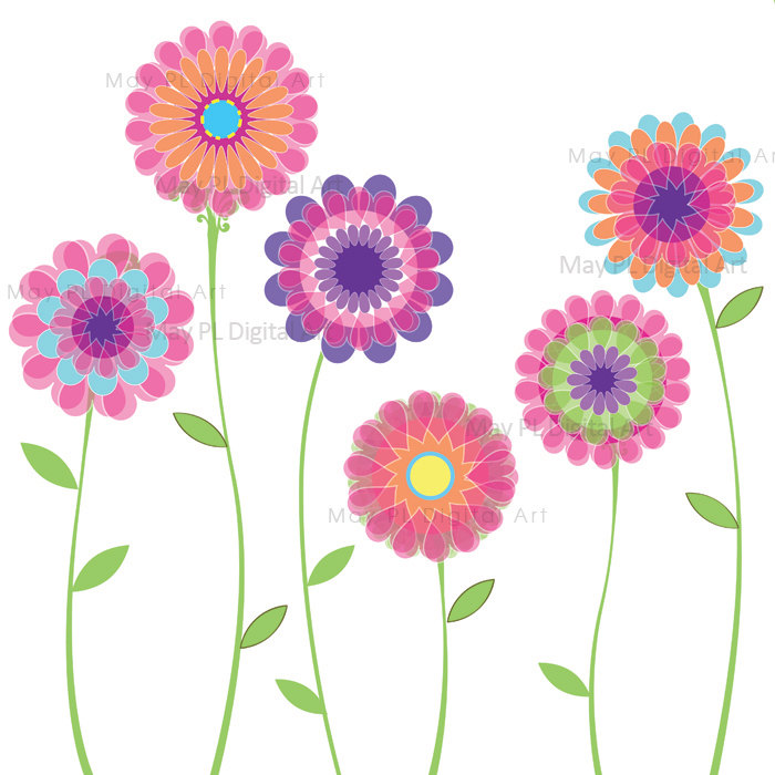 9 Spring Flowers Banner Graphic Images - Vector Spring ...