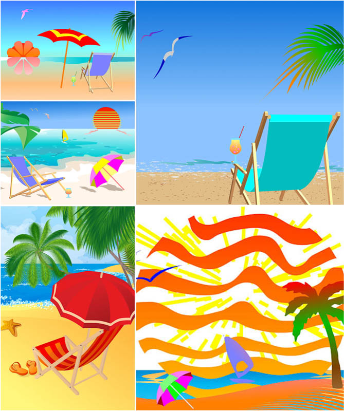 Summer Beach Background Clip Art Free