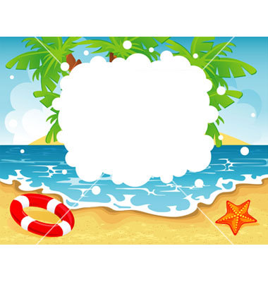 Summer Beach Border