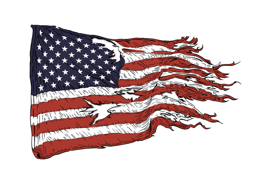 14 Torn American Flag Vectors Design Images